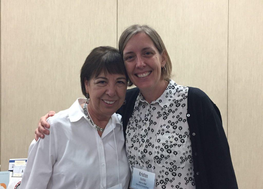 b497b1e58216 Norma Cantú and UA Press Editor-In-Chief Kristen Buckles