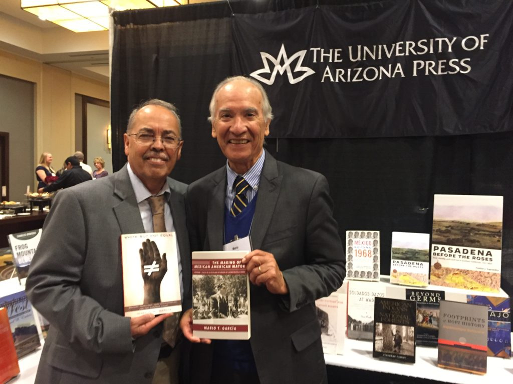 The Making of a Mexican American Mayor author Mario García with White But Not Equal author Ignacio García