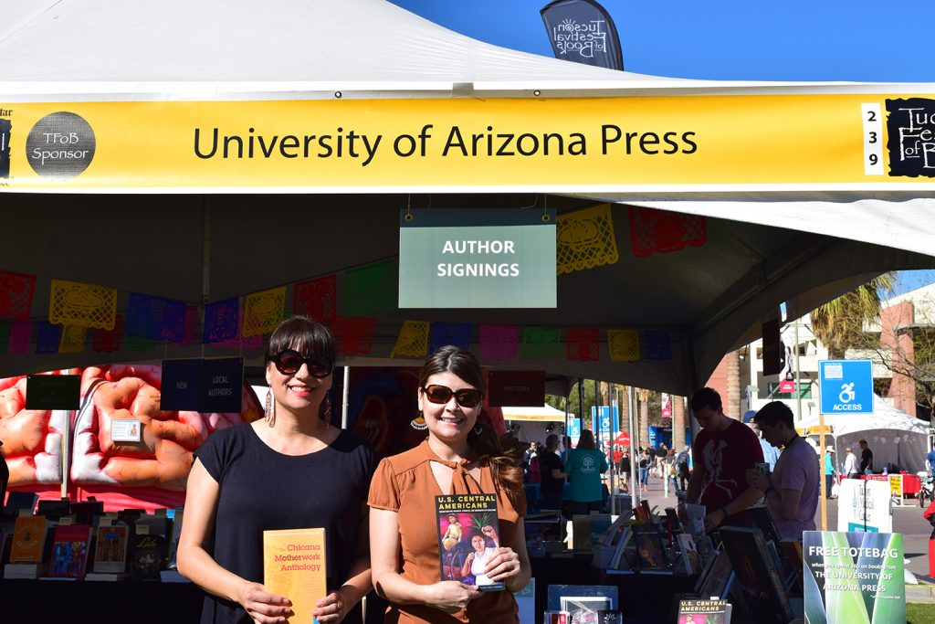 959c46f0bc68 Michelle Téllez presents her co-edited anthology Chicana Motherwork, from  The Feminist Wire Books series, next to Maritza Cardenas, who contributed  to the ...